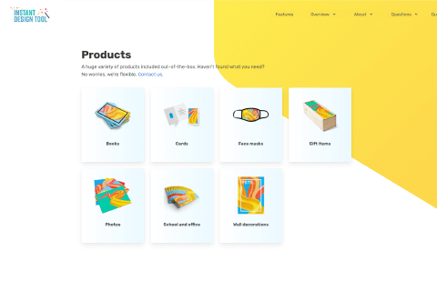Instant Design Tool editor products